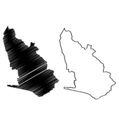 Western region administrative divisions ghana vector