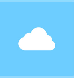 white cloud graphic icon design template vector image