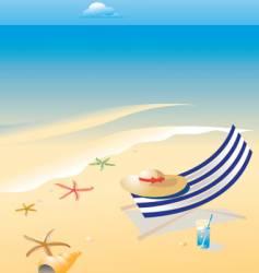 wonderful shining beach vector image vector image
