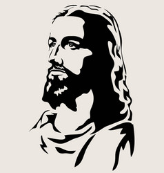 Yesus face vector