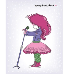 Young punk-rock vector image