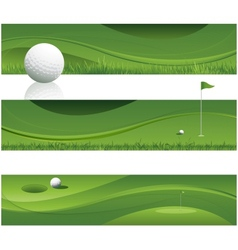 Abstract golf background vector image vector image