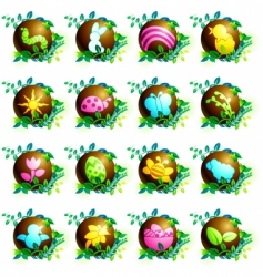chocolate spring icons vector image vector image