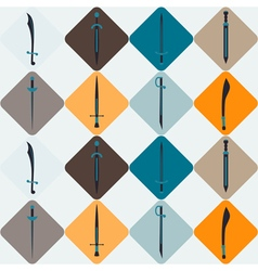 Seamless background with swords vector image