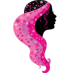 Silhouette of a girl vector image vector image