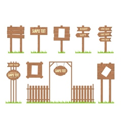 Wooden Sign Posts vector image vector image