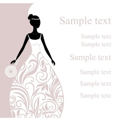 a beautiful young bride vector image vector image