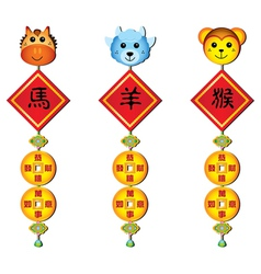 chinese zodiac decoration vector image vector image
