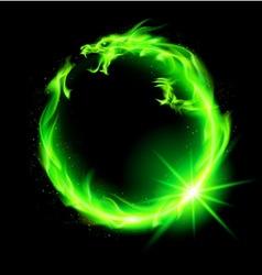 Dragon circ nt green 01 vector