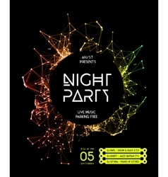Night Disco Party Poster Background vector image vector image