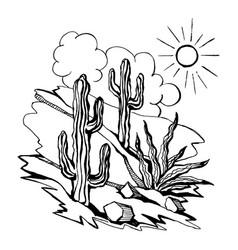 sketch of outline drawing landsca vector image