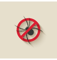 spider warning sign vector image vector image
