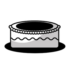 delicious sweet cake icon vector image vector image