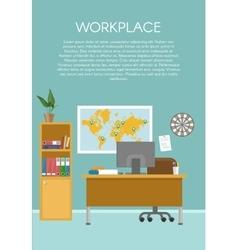 Empty Workspace Design vector image