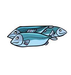 fish food vector image vector image