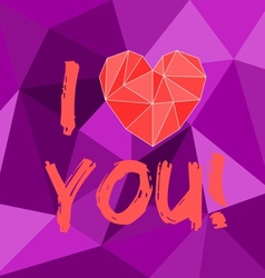 I love you valentines or mothers day card vector image vector image
