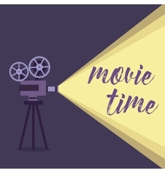 Movie projector background vector image vector image