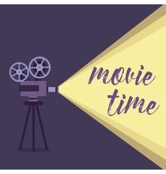 Movie projector background vector