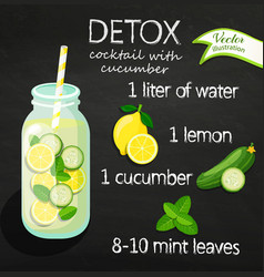 recipe detox cocktail vector image vector image