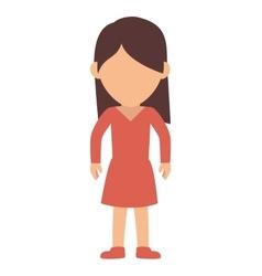 tennager girl cartoon vector image vector image