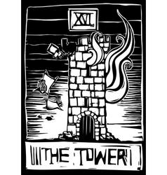 Tower Tarot vector image vector image