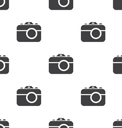 camera seamless pattern vector image vector image