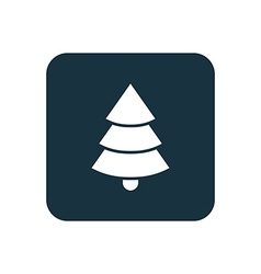 Christmas tree icon Rounded squares button vector image vector image