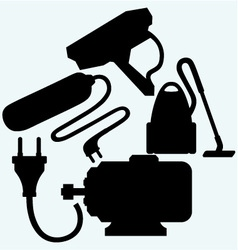 Electrical appliances vector image vector image