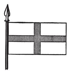 Flag of st george vintage vector