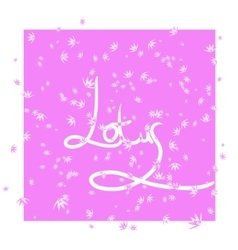 Pink background with stylization flower lotus vector image