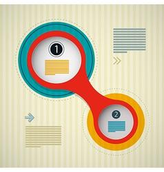 Retro Circle Infographics Background Web Design vector image