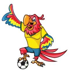 Soccer Parrot vector image