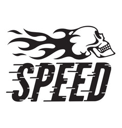 speed retro design with speed lines and fla vector image