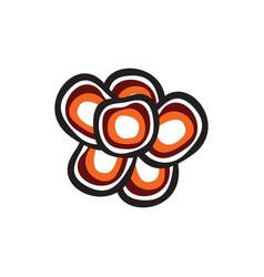 Aboriginal art symbol design template vector
