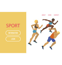 athlete sport banner vector image