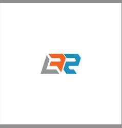 B r letter logo emblem design on black color vector