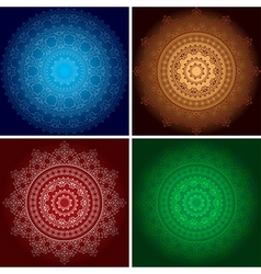 Beautiful ornaments on backgrounds with gradient vector