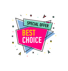 best choice sticker in trendy linear style vector image