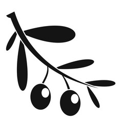 branch of olives icon simple style vector image