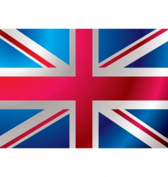 Britain flag ripple vector image
