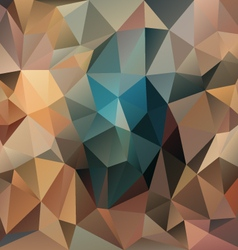 Brown turquoise middle polygonal triangular vector