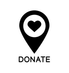 charity organization location glyph icon vector image