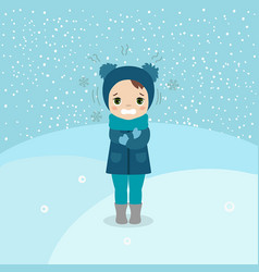 cold weather girl cold weather girl vector image