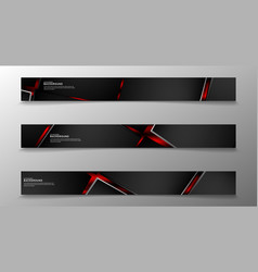 collection rectangular banners geometric vector image