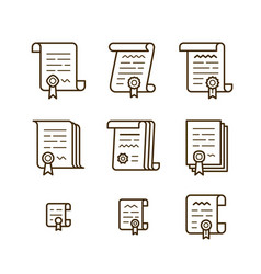 contract line icons vector image