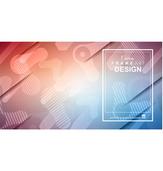 Cover or flyer layout with geometric colorful vector