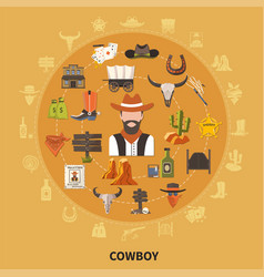 Cowboy round composition vector