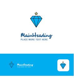 creative diamond logo design flat color logo vector image