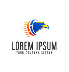 Eagle head logo fast moving logo design concept vector
