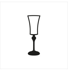 Empty champagne glass icon monochrome style vector